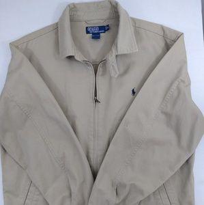 Vintage Ralph Lauren tan jacket men's XL